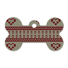 Stitched Seamless Pattern With Silhouette Of Heart Dog Tag Bone (one Side)