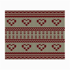 Stitched Seamless Pattern With Silhouette Of Heart Small Glasses Cloth (2 Side)