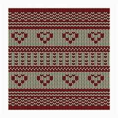 Stitched Seamless Pattern With Silhouette Of Heart Medium Glasses Cloth (2-Side)