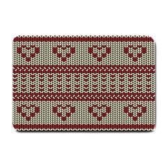 Stitched Seamless Pattern With Silhouette Of Heart Small Doormat
