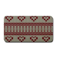 Stitched Seamless Pattern With Silhouette Of Heart Medium Bar Mats