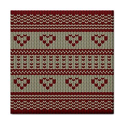 Stitched Seamless Pattern With Silhouette Of Heart Face Towel
