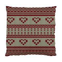 Stitched Seamless Pattern With Silhouette Of Heart Standard Cushion Case (two Sides)
