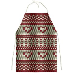 Stitched Seamless Pattern With Silhouette Of Heart Full Print Aprons