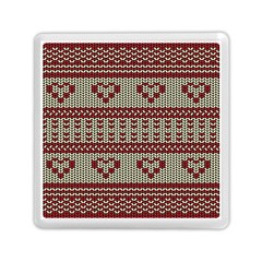 Stitched Seamless Pattern With Silhouette Of Heart Memory Card Reader (square)