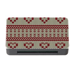 Stitched Seamless Pattern With Silhouette Of Heart Memory Card Reader With Cf