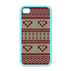 Stitched Seamless Pattern With Silhouette Of Heart Apple iPhone 4 Case (Color)
