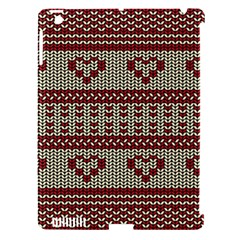 Stitched Seamless Pattern With Silhouette Of Heart Apple iPad 3/4 Hardshell Case (Compatible with Smart Cover)