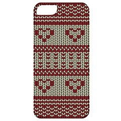 Stitched Seamless Pattern With Silhouette Of Heart Apple Iphone 5 Classic Hardshell Case