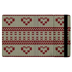 Stitched Seamless Pattern With Silhouette Of Heart Apple Ipad 2 Flip Case