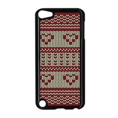 Stitched Seamless Pattern With Silhouette Of Heart Apple iPod Touch 5 Case (Black)