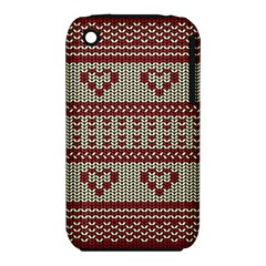 Stitched Seamless Pattern With Silhouette Of Heart Iphone 3s/3gs