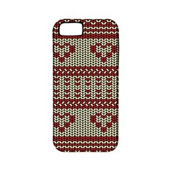 Stitched Seamless Pattern With Silhouette Of Heart Apple Iphone 5 Classic Hardshell Case (pc+silicone)