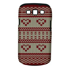 Stitched Seamless Pattern With Silhouette Of Heart Samsung Galaxy S Iii Classic Hardshell Case (pc+silicone)