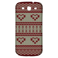 Stitched Seamless Pattern With Silhouette Of Heart Samsung Galaxy S3 S Iii Classic Hardshell Back Case