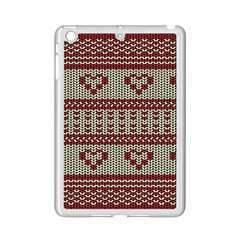 Stitched Seamless Pattern With Silhouette Of Heart Ipad Mini 2 Enamel Coated Cases