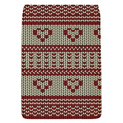 Stitched Seamless Pattern With Silhouette Of Heart Flap Covers (s)