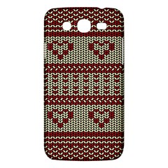Stitched Seamless Pattern With Silhouette Of Heart Samsung Galaxy Mega 5.8 I9152 Hardshell Case