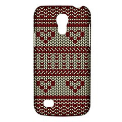 Stitched Seamless Pattern With Silhouette Of Heart Galaxy S4 Mini
