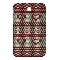 Stitched Seamless Pattern With Silhouette Of Heart Samsung Galaxy Tab 3 (7 ) P3200 Hardshell Case