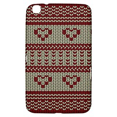 Stitched Seamless Pattern With Silhouette Of Heart Samsung Galaxy Tab 3 (8 ) T3100 Hardshell Case