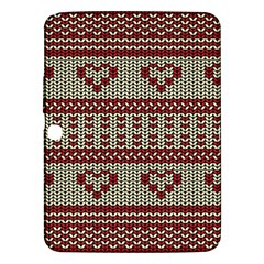 Stitched Seamless Pattern With Silhouette Of Heart Samsung Galaxy Tab 3 (10 1 ) P5200 Hardshell Case