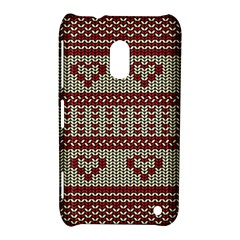 Stitched Seamless Pattern With Silhouette Of Heart Nokia Lumia 620