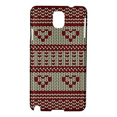 Stitched Seamless Pattern With Silhouette Of Heart Samsung Galaxy Note 3 N9005 Hardshell Case