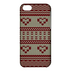 Stitched Seamless Pattern With Silhouette Of Heart Apple Iphone 5c Hardshell Case