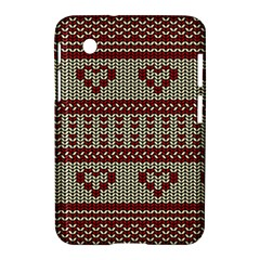 Stitched Seamless Pattern With Silhouette Of Heart Samsung Galaxy Tab 2 (7 ) P3100 Hardshell Case