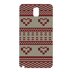 Stitched Seamless Pattern With Silhouette Of Heart Samsung Galaxy Note 3 N9005 Hardshell Back Case