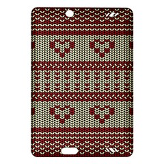 Stitched Seamless Pattern With Silhouette Of Heart Amazon Kindle Fire Hd (2013) Hardshell Case