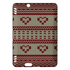 Stitched Seamless Pattern With Silhouette Of Heart Kindle Fire Hdx Hardshell Case