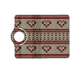 Stitched Seamless Pattern With Silhouette Of Heart Kindle Fire HD (2013) Flip 360 Case