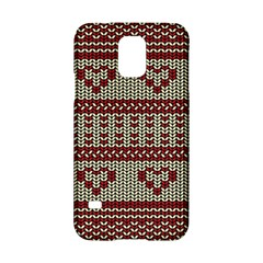 Stitched Seamless Pattern With Silhouette Of Heart Samsung Galaxy S5 Hardshell Case