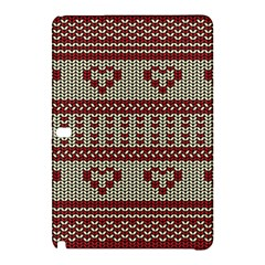 Stitched Seamless Pattern With Silhouette Of Heart Samsung Galaxy Tab Pro 12 2 Hardshell Case