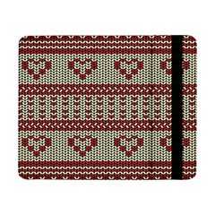 Stitched Seamless Pattern With Silhouette Of Heart Samsung Galaxy Tab Pro 8 4  Flip Case