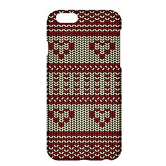 Stitched Seamless Pattern With Silhouette Of Heart Apple Iphone 6 Plus/6s Plus Hardshell Case