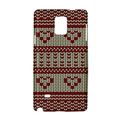 Stitched Seamless Pattern With Silhouette Of Heart Samsung Galaxy Note 4 Hardshell Case