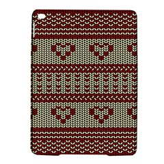 Stitched Seamless Pattern With Silhouette Of Heart iPad Air 2 Hardshell Cases