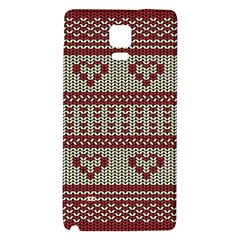 Stitched Seamless Pattern With Silhouette Of Heart Galaxy Note 4 Back Case