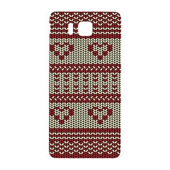 Stitched Seamless Pattern With Silhouette Of Heart Samsung Galaxy Alpha Hardshell Back Case