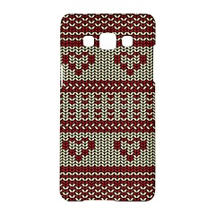 Stitched Seamless Pattern With Silhouette Of Heart Samsung Galaxy A5 Hardshell Case