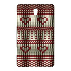Stitched Seamless Pattern With Silhouette Of Heart Samsung Galaxy Tab S (8 4 ) Hardshell Case