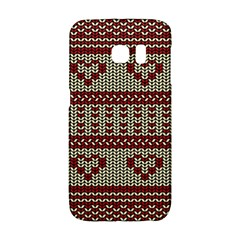 Stitched Seamless Pattern With Silhouette Of Heart Galaxy S6 Edge