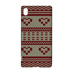 Stitched Seamless Pattern With Silhouette Of Heart Sony Xperia Z3+