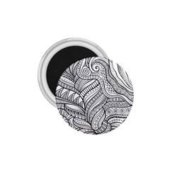 Zentangle Art Patterns 1.75  Magnets
