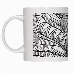 Zentangle Art Patterns White Mugs