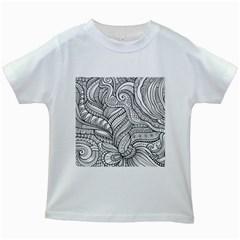 Zentangle Art Patterns Kids White T-Shirts
