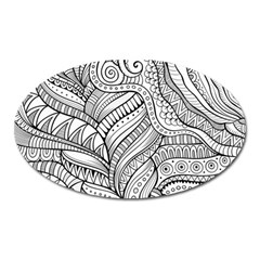 Zentangle Art Patterns Oval Magnet
